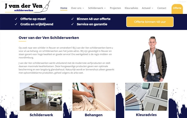 Website voor kappers en kapsalonwebsite